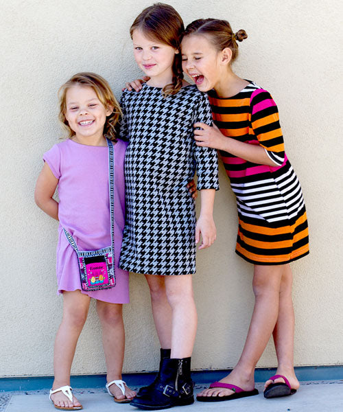 The Anywhere Dress - beginner knit sewing pattern for girls by Go To ...