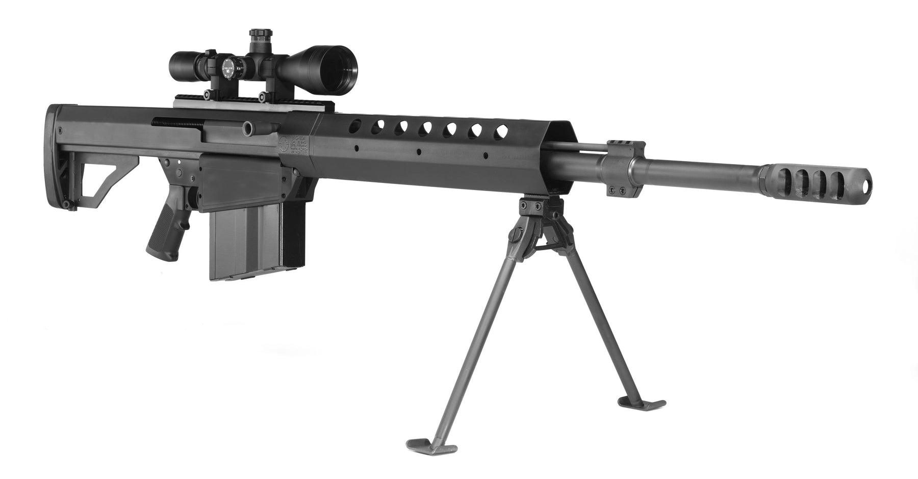 50 Caliber Sniper Rifle With Silencer