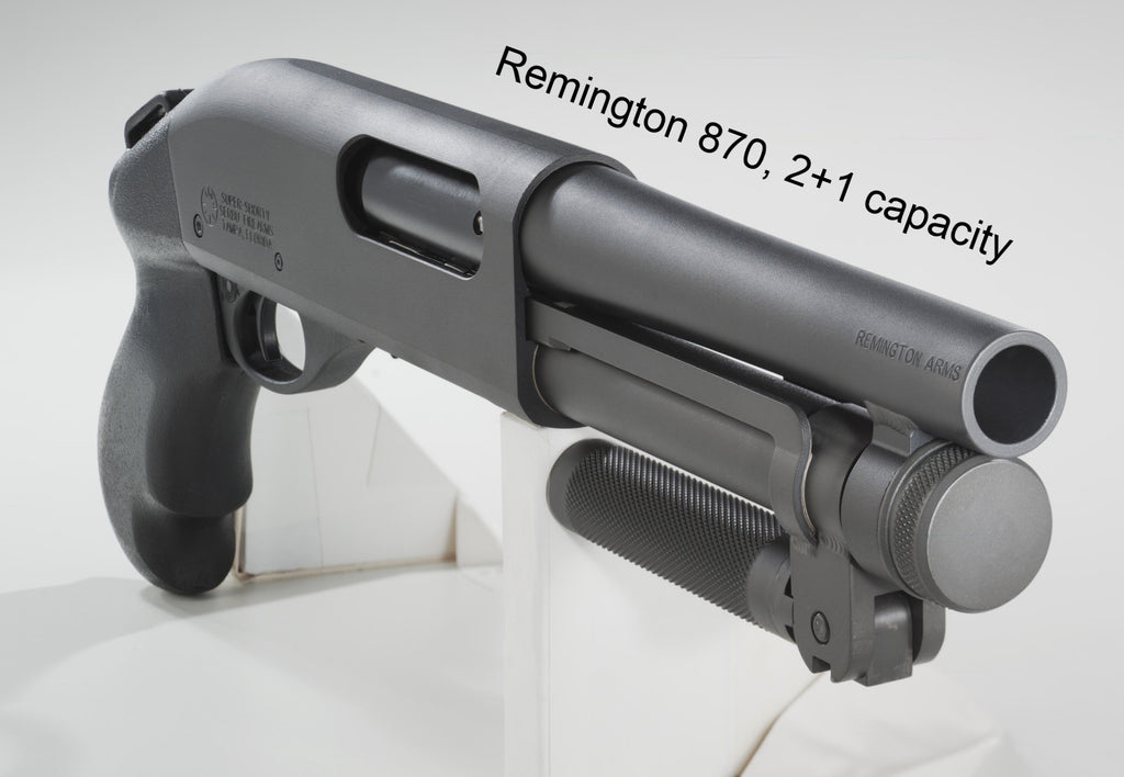 Remington 870, 2+1 capacity