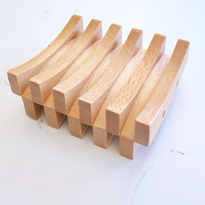 Double Curved Beechwood Soap Saver