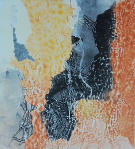 "Monoprint - ""Contrasting Roots"""