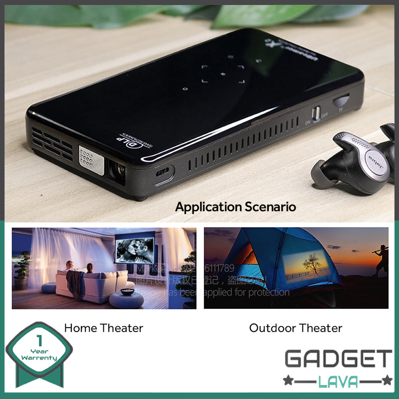 Smart Pocket Projector 2020 Latest edition with Android OS & Voice Control Remote Home & Outdoor Cinema.