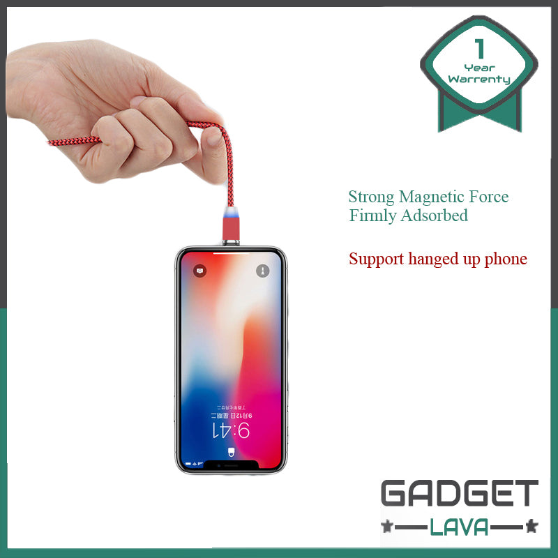 Magnetic 360 rotating charging cable