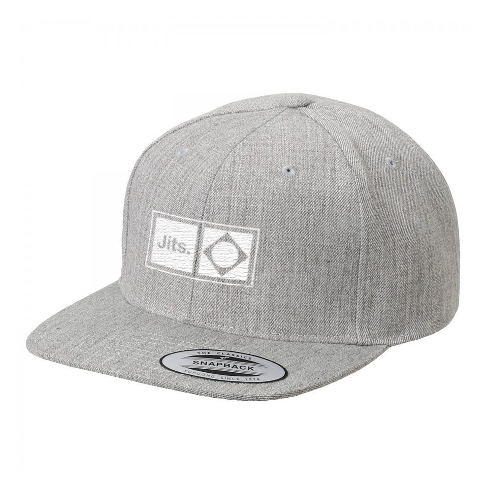 'Flag Mark' Snap Back Cap - Grey Knit