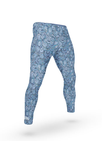 'Onda' Grappling Spats - Blue