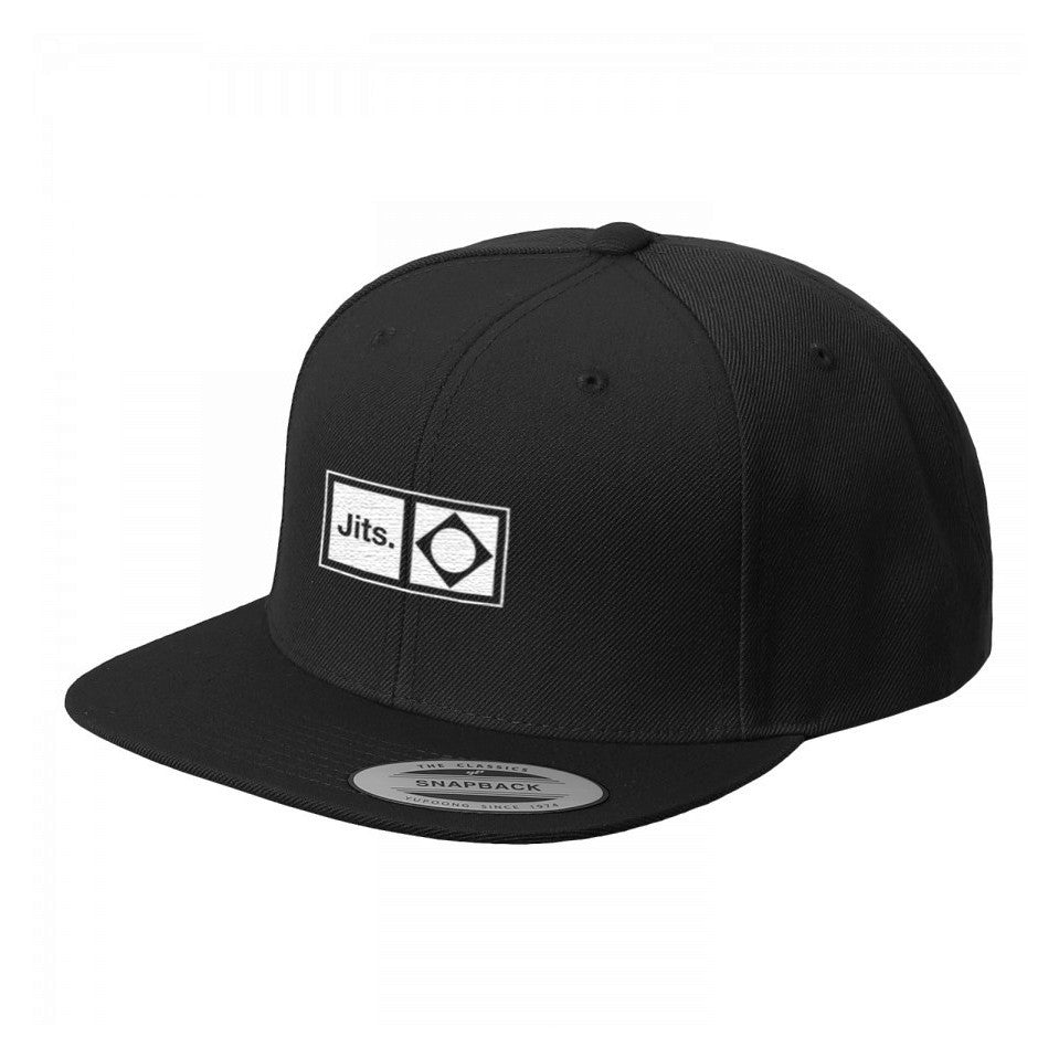 'Flag Mark' Snap Back Cap - Black