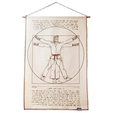 'Vitruvian' Art Scroll