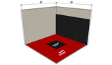 Zebra 10' x 10' Premium Mats with Smooth Surface (available in 4 colors)