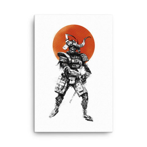 'Zombie Samurai' Stretched Canvas Wall Art