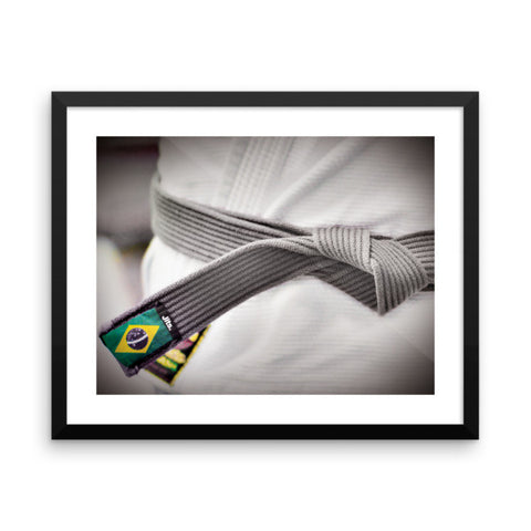 'Rep your Rank' Framed Museum Print - Black Belt