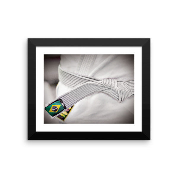'Rep your Rank' Framed Museum Print - White Belt
