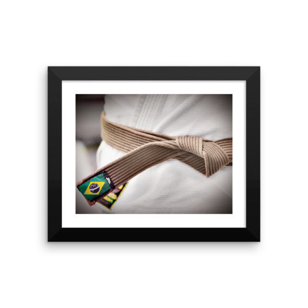 'Rep your Rank' Framed Museum Print - Brown Belt