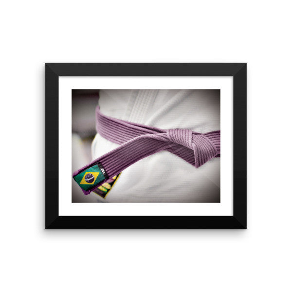 'Rep your Rank' Framed Museum Print - Purple Belt