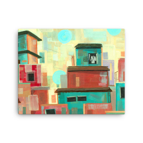 'Favela' Stretched Canvas Wall Art