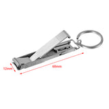 Ultra-Portable Stainless Steel Nail Clippers with Key Ring