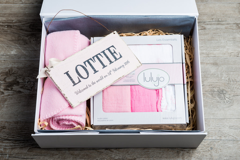 Potwells Baby Hamper - Personalised Nursery Hamper - Girls - Newborn