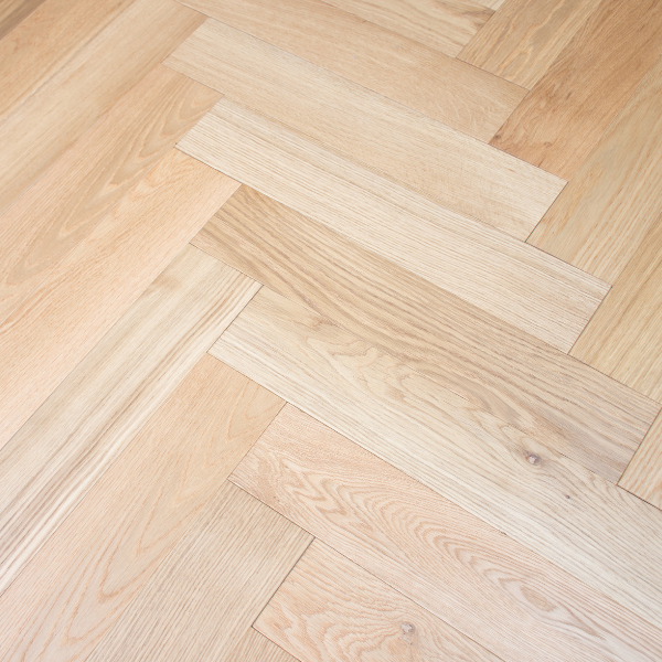 American White Oak Herringbone Engineered Parquetry