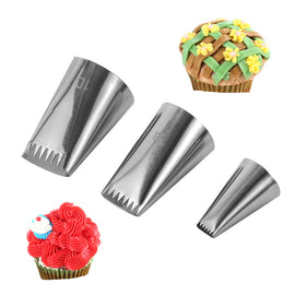 1/3PCS Nozzles Cupcake Basket Weave Tips Icing Piping Cream Nozzle Reusable Russian Pastry Tips