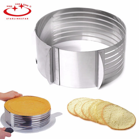 1 PC Adjustable Cake Cutter Round Shape Bread Cake Slicer DIY Layered Cake Mold Bakeware Cooking