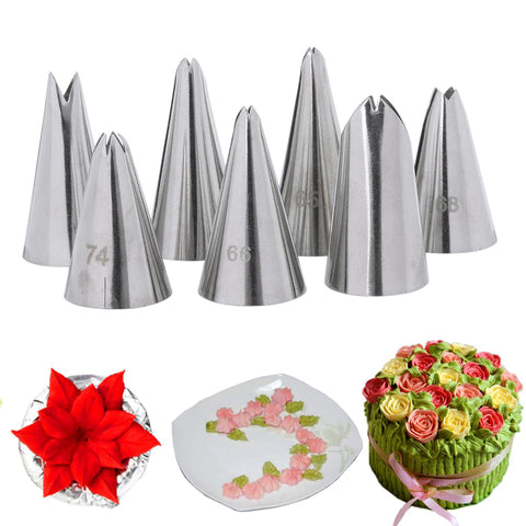 1 PC Useful DIY Cake Decor Tool Leaves Nozzle Stainless Steel Icing Piping Nozzle Pastry Tips Cake