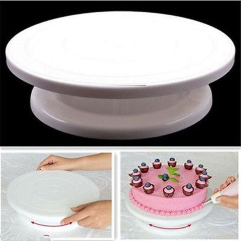 1 Pc Cake Base Rotating Cake Stand Sugarcraft Turntable Platform Cupcake Swivel Plate Revolving
