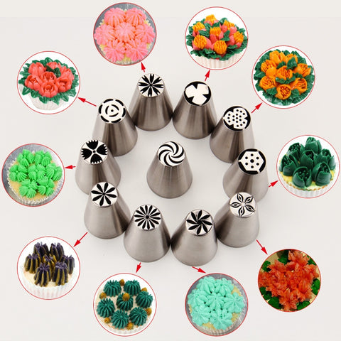 1 Pc Russian Nozzles Cake Decorating Tools Kitchen Gadget Utensils Accessories Piping Nozzles Flower
