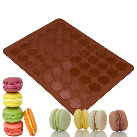 1 Pcs Silicone Macaron Macaroon Pastry Oven Baking Mould Sheet Mat 30-Cavity DIY Mold Baking Mat