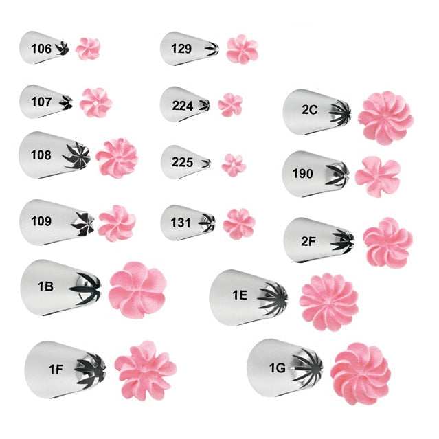 1-Piece Beautiful Flowers Nozzles Piping Tips Frosting Cake Decorating Tip for Kids Baking &