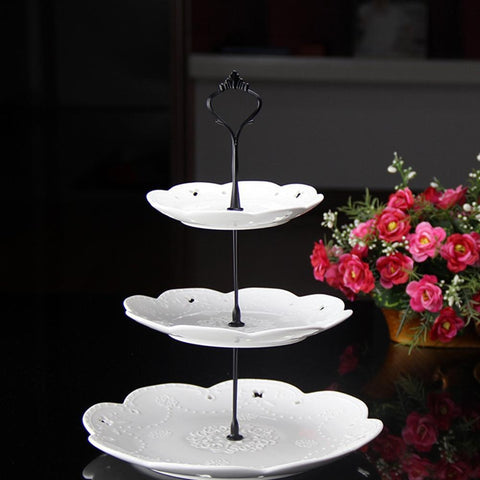 1 Set 2 Tier Cakes Plate Stand Home Party Birthday Cupcake Fruit Candy Fruits Desserts Stands For