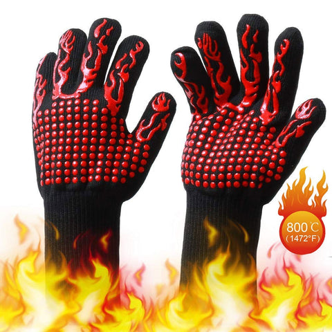 1 pc High Temperature Resistant Gloves Silicone Flame High Temperature Resistant 800 Degrees