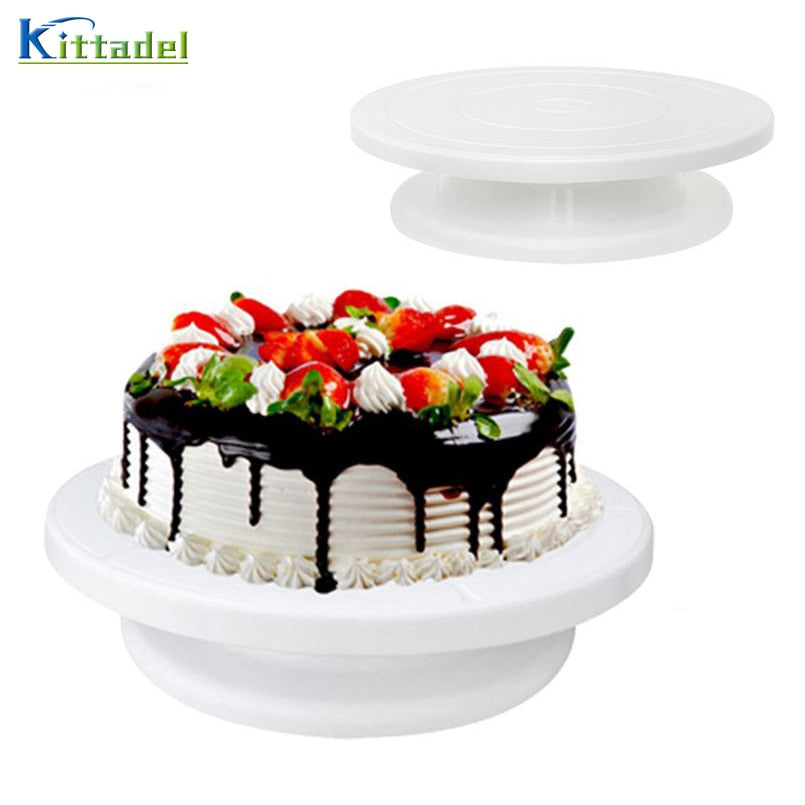 10 inch DIY Plastic Rotary Cake Turntable 360 Degree Rotating Cake Decorating Table Cake Stand
