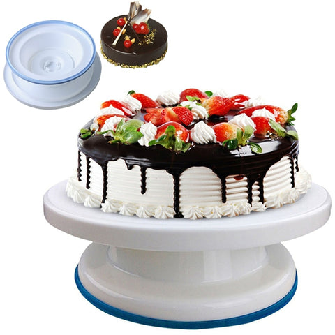 10 inch High quality Cake Stand Craft Turntable Platform Cupcake Swivel Plate Revolving Cake