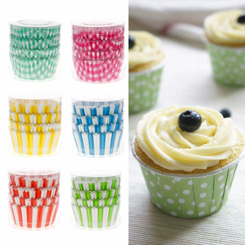 100 Pcs/Pack Home Kitchen Bakeware Cake Tools Mini Paper Cupcake Case Wedding Wrapper Muffin