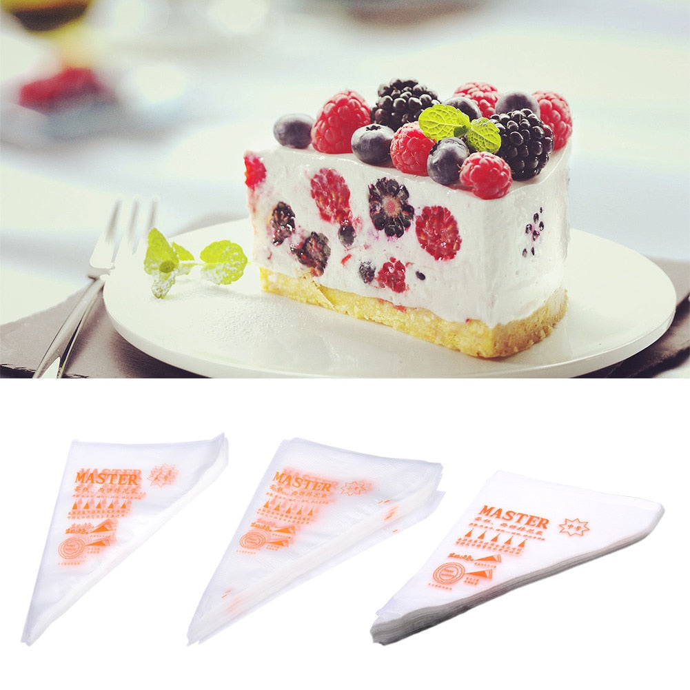 100 Pcs/Set Disposable Pastry Bag Icing Piping Cake Pastry Cupcake Decorating Bags Large Cookie