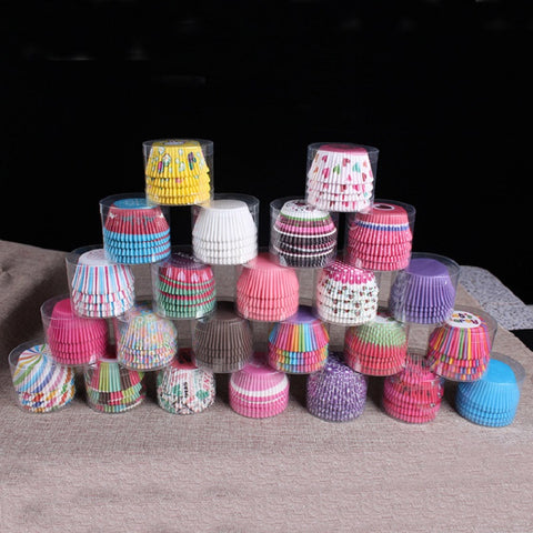 100 pcs cupcake liner baking cup muffins paper cupcakes wrappers Cake box Cup egg tarts tray cake