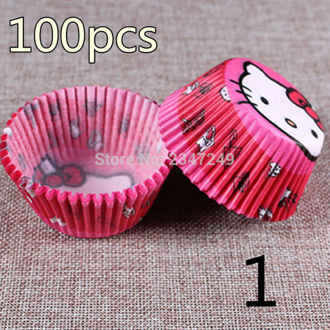 100 pcs/lot Cooking Tools Paper Cup Cake Liners Baking Cup Muffin Kitchen Cupcake Cases Cake Mold