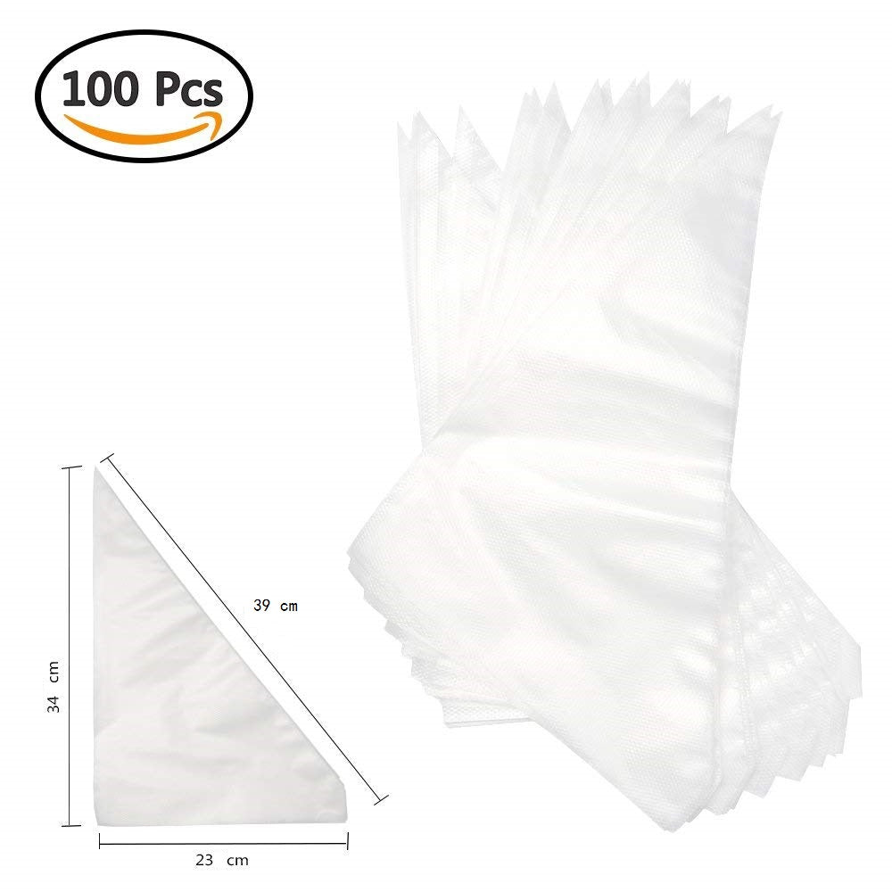 100PCS Extra Large Size Disposable Pastry Bag Icing Piping Bag Cake Cupcake Decorating Bags Bakeware
