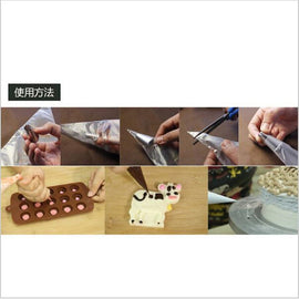 100PCS/Lot Food Grade Plastic Pastry Bags Disposable Piping bag Icing Nozzle Fondant Cake Decorating