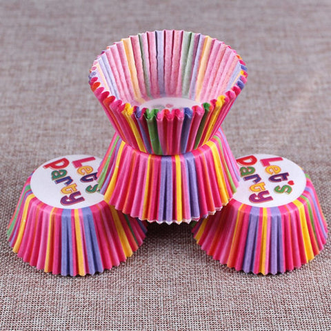 100Pc/Set Paper Cake Forms Cupcake Liner Baking Muffin Box Cup Case Party Tray Cake Mold