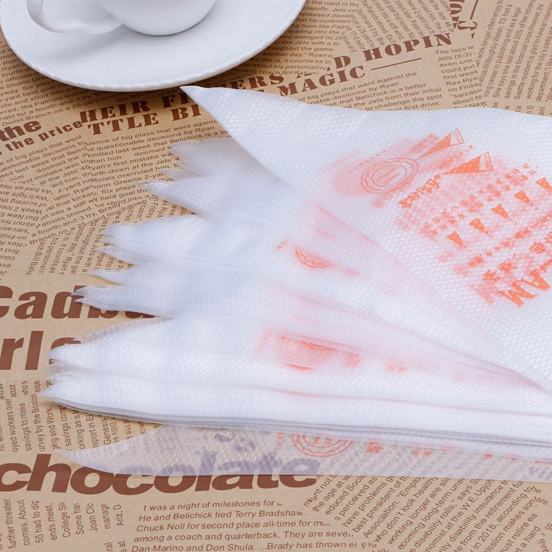 100Pcs/50pcs/30pcs Pack S Size Disposable Piping Bag Icing Fondant Cake Cream Decorating Pastry