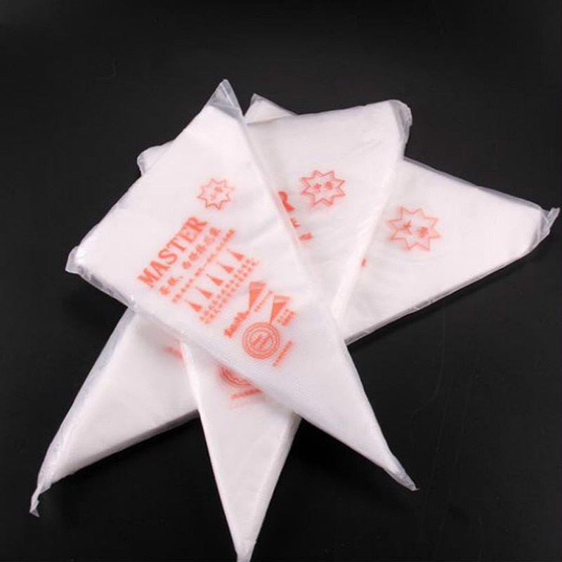 100pcs Disposable Pastry Bags S/M/L Size Piping Bag Confectionery Bags For Cream Fondant Cake