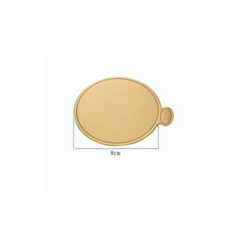 100pcs/Set Round Mousse Cake Boards Gold Paper Cupcake Dessert Displays Tray Wedding Birthday Cake