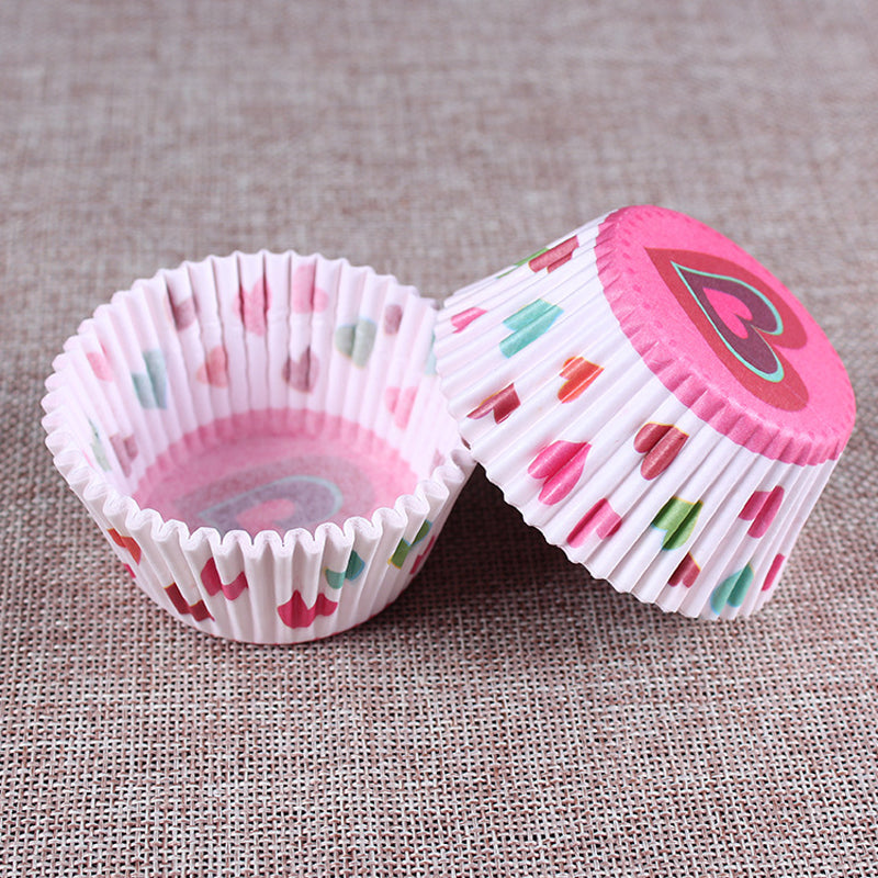 100pcs/set Colorful Paper Cake Cup Paper Cupcake Liner Baking Muffin Box Cup Case Party Tray Cake