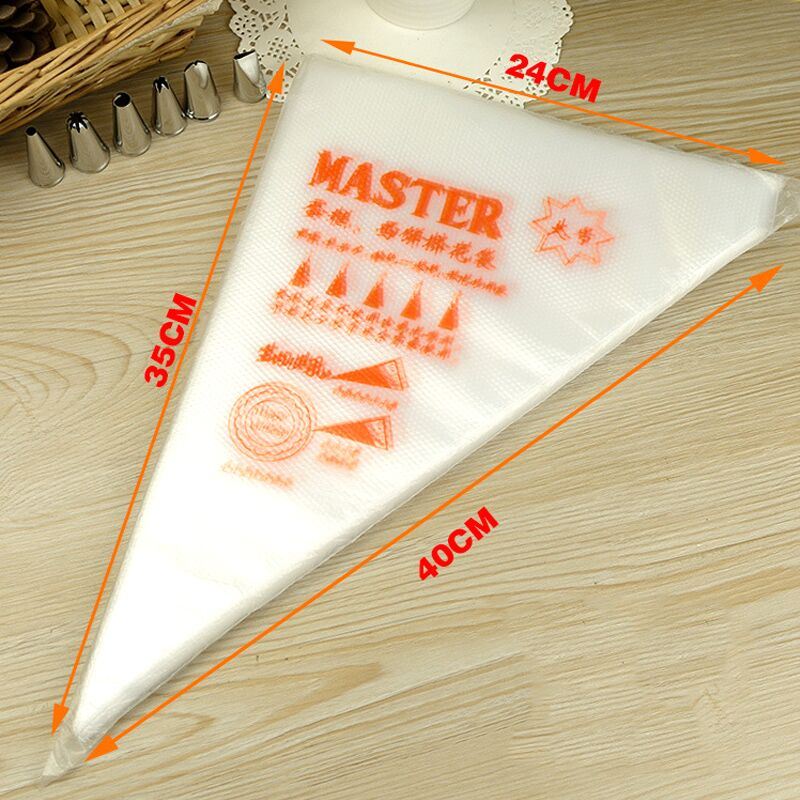 10PCS/Lot Large Size Disposable Icing Piping Cream Pastry Bag Fondant Cream Cake Decorating Bag