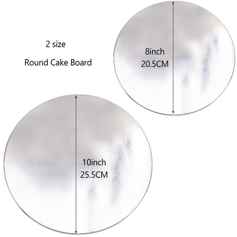 10PCS Round Sliver Cake Board for Presenting Decorated Cakes Moving Plate Turntables Baking Tools