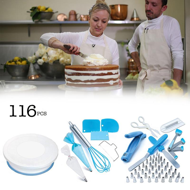116Pcs New Nozzles Pastry Tips Set Cake Cupcake Accessories DIY Baking Tool Set Icing Piping Cake