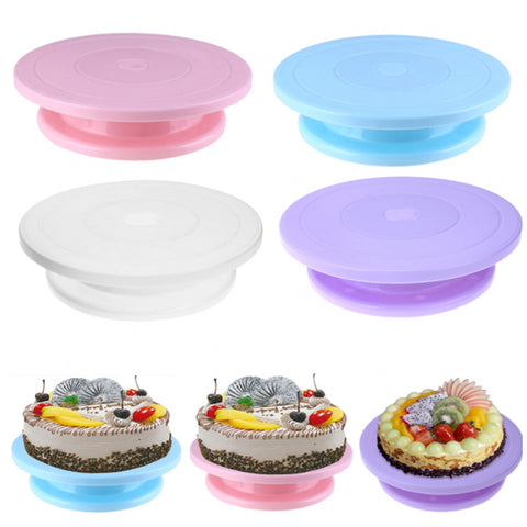 11inch Plastic Cake Turntable Anti slip Rotating Turntable Decorating Cake Stand Tool for DIY Rotary