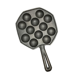 12 holes DIY Pan Takoyaki octopus balls baking grill mold burning Plate Maker kitchen cooking tools
