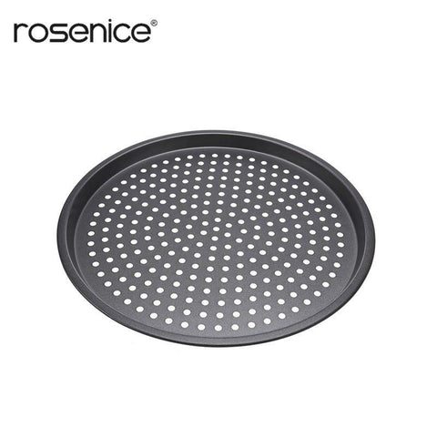 12-inch Nonstick Pizza Pan Baking Holey Tray Plate with Holes Pizza Baking Tool