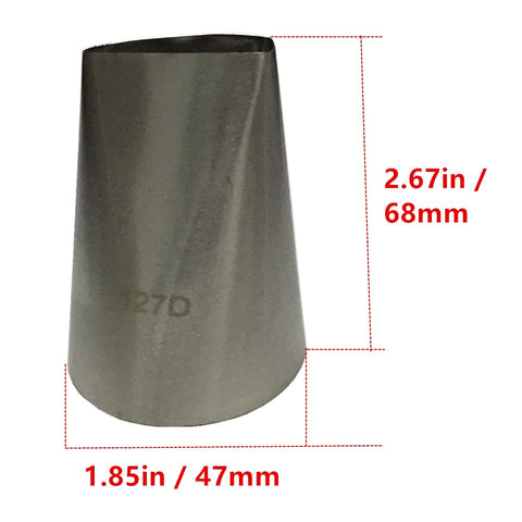#127D Large Size Petal Decorating Tips Icing Nozzle Cake Decorating Tips Stainless Steel Seamless